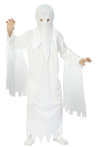 Boys Ghost Child Costume Spooky Frightening Scary Halloween Fancy Dress Outfit